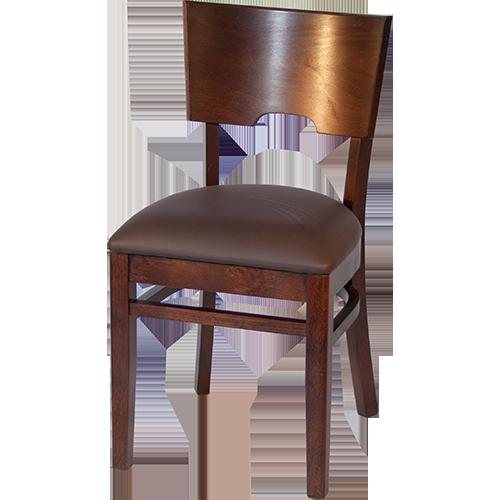 clara mit polster braun restaurantstuhl restaurantst hle kneipenstuhl holzstuhl ebay. Black Bedroom Furniture Sets. Home Design Ideas